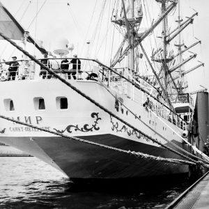 Heck vom Segelschulschiff MIR